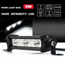 "4"" 9W 3 LED 6000K Spot Beam Work Light Bar Lamp Suv Boat Offroad Truck ATV"