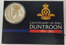 2011 Centenary of RMC Duntroon 1911 - 2011 1oz Silver Proof Coin and Badge Set