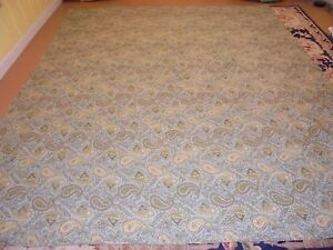 Nice Blue, Green, & Yellow Paisley Pattern Quilt