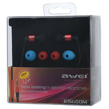 AWEI In-Ear Noise Isolating Earphone For iPhone iPod iPad Tablet Smartphone