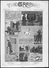 1887 Antique Print - CHINA SEAS Paracel Coral Reefs Gunboat Wasp Naval (267)