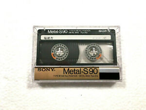 SONY METAL-S 90 vintage audio cassette blank tape used Made in Japan Type IV
