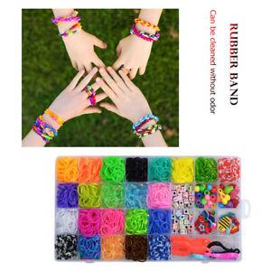 1500pcs Rubber Loom Bands Set Children DIY Toys Kid Make Woven Bracelet