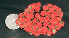 Roses Red 8mm Rosebuds 1:12 Miniature Flowers Flower GST-001-8mm Valentines