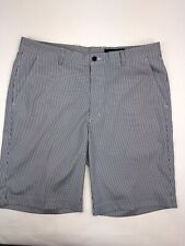 Greg Norman Mens Size 34 Blue White Striped Golf Shorts Shark Clubhouse Resort