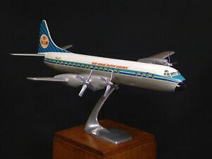 KLM LOOCKEED ELECTRA L 188 ROYAL DUTCH AIRLINES C° DESK AGENCY ALUMINIUM 1959