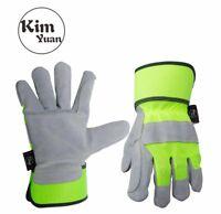 KIMYUAN Cowhide Work Safety Gloves Truck Driving/Yard/Gardening/Warehouse M,L,XL