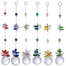 Chandelier Octogon Chakra Suncatcher Colorful Crystal Ball Prisms Pendant 6PCS