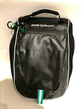 BMW Golfsport shoe carry bag black with green accent GENUINE
