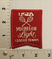 1980's USTA MICHELOB LEAGUE TENNIS VINTAGE EMBROIDERED PATCH #1