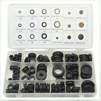 125pc Rubber Blanking Grommet Wiring Open Closed Blind Grommets Set Assorted Kit