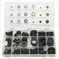125pc Rubber Blanking Grommet Wiring Open Closed Blind Grommets Set Assorted Kit