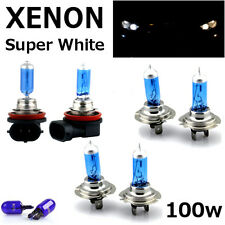 H7 H7 H11 100w SUPER WHITE XENON UPGRADE HID Headlight Bulbs 12v MAIN/DIPPED/FOG