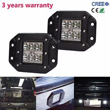 2X 24W Spot CREE LED Cube Pods Work Light Square Flush Mount Offroad Truck Jeep