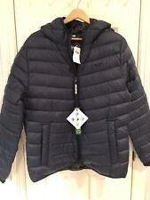 NWT Hollister Men Navy Hooded Puffer Coat Jacket M Medium $99.95