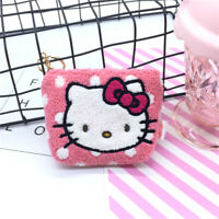 Cute Hello Kitty Purse Wallet Plush Small Coin Earphone Key Storage Bag Gift