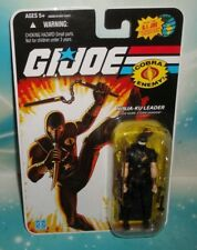 G I GI JOE 25TH ANNIVERSARY COBRA NINJA KU LEADER BLACK SUIT STORM FIGURE MOC