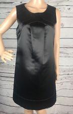 BCBG Paris Little Black Dress Size 6 Sexy Satin Sleeveless Above Knee Length