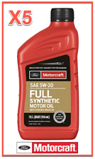 5X Quart OEM Full Synthetic Engine Motor Oil FORD/Motorcraft SAE 5W-20