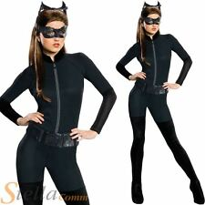 Ladies Catwoman Fancy Dress Costume Batman Dark Knight Halloween Superhero