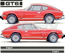 Triumph GT6 side stripes custom two colour Decals Stickers any colours