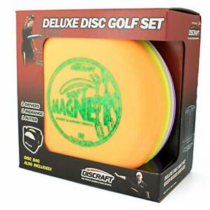 Discraft Deluxe Disc Golf Set 4 Disc and BagModels and plastic blends may v...