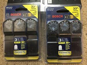 Bosch OSC114-3 1-1/4Inch x 1-5/8Inch Multi-Tool HCS Precision Plunge Cut Blades-