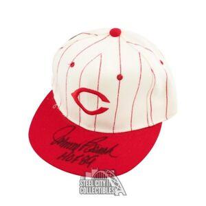 Johnny Bench HOF 89 Autographed Cincinnati Reds Baseball Cap Hat - BAS COA