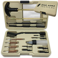 Handgun Cleaning Kit by Bear Armz Tactical Works for Calibers .22- .45 Cal