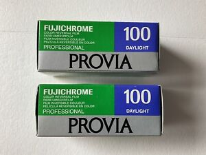 Fujichrome 120 Provia ISO100 Daylight X 2 Rolls. Color Reversal Slide Film Exp