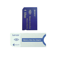 64MB SONY Memory Stick Duo NON-PRO New MS Card + Lexar MS Adapter For Sony PSP