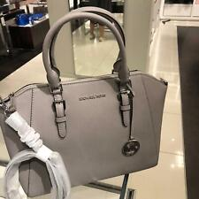 Michael Kors Ciara Satchel Bag Saffiano Leather Large Handbag - Pearl Grey
