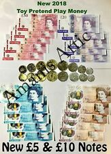 Kids Child Play Fake Pretend Toy Money Role Shop Cash £ Pound Notes Coins Party