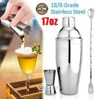 17oz/500ml Cocktail Shaker Set Drink Matini Mixer Maker Bartender Bar Tool Kit