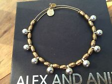 RARE ALEX and ANI BYZANTINE VINTAGE SILVER Dangle Drop GOLD Beaded BANGLE
