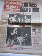 Melody Maker 9/2/78 Television Jam Reading Festival Jilted John