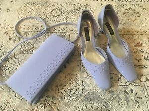 Jacques Vert Occasion Lilac Shoes and Matching bag Mother of the Bride