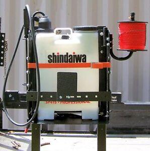 Adjustable Back Pack Sprayer Blower Rack for Open Landscape Trailer - RA-39/BMHD