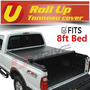 For 2014-2020 TOYOTA TUNDRA 8Ft/96In Bed Black Vinyl Lock Roll Up TONNEAU COVER