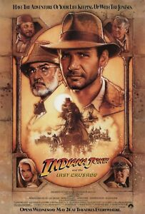 Movie Posters - Indiana Jones and the Last Crusade - 1989 - 4 Sizes - NEW