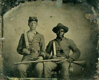 1861 Photo, Negro, Civil War, Slavery, Bowie Knife, antique, guns, military