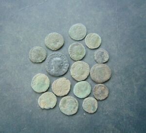 16 pieces a little to clean Roman coins LOT!