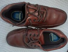 MEN'S SHOES genuine leather size 11W Nunn Bush brown slightly used see photos