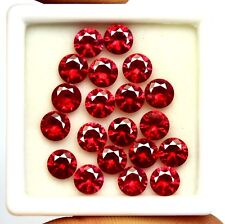 20.20Ct EGL Certified Natural Amazing Round Cut Red Ruby Gemstone Lot 20 Pieces