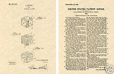 Vintage US Patent for DICE Art Print READY TO FRAME!! gaming craps gambling