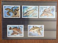 5 Francobolli CAPO VERDE Serie pesci. 1980
