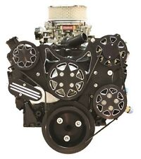 ALL AMERICAN BILLET SMALL BLOCK CHEVY SERPENTINE KIT WITH (((FREE))) RESERVOIR!!