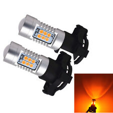 PY24W Amber Yellow Error Free 21SMD LED Bulbs For BMW Front Turn Signal Lights