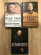 STAR TREK: WILLIAM SHATNER/LEONARD NIMOY HARDCOVER LOT MOVIE MEMORIES I AM SPOCK