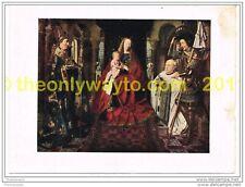 MADONNA OF CANON VAN DER PAEL, c 1436, JAN VAN EYCK, BOOK ILLUSTRATION c1920/30